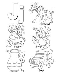 Words Begin with Letter J Coloring Page 600x776
