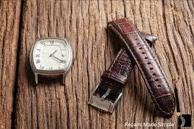 image showcasing leather watch band replacement