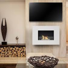 arlington white bioethanol fireplace