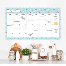 monthly wall decal calendar dry erase