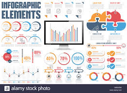 How To Chart Options Infographic Elements Process Infographics Percents Bar