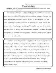 Paragraph Correction Worksheets Free Worksheets Library | Download ...