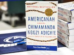 americanah chosen as penn state reads common text penn  photo of americanah book next to a stack