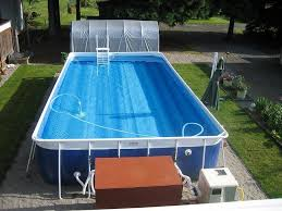 rectangle above ground pool sizes. Modren Above Rectangular Above Ground Lap Pool With Ladder Steps And Pump Inside Rectangle Sizes A