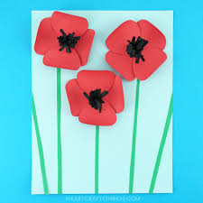 poppy template pretty paper poppies craft i heart crafty things