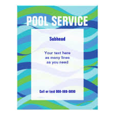 pool service flyers. Swimming Pool Service With Custom Text Flyer Flyers