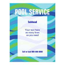 Swimming Pool Flyers Programs Zazzle