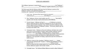 Sample Sublease Agreement Free 8 Sublease Agreement Sample Forms Pdf