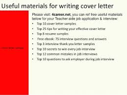 Teacher Assistant Cover Letter Examples Yours Sincerely Mark 4