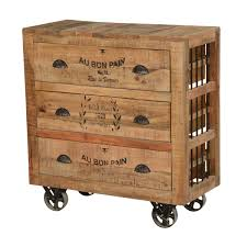 style solid wood factory cart drawer dresser beautiful chest of drawers real image ideas