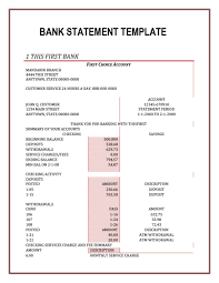 23 Editable Bank Statement Templates Free Template Lab