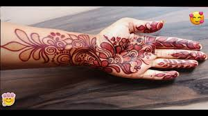 Red Cone Mehandi Designs Maroon And Red Easy Mehndi Design Golecha Henna Be You And Beauty