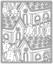 Christmas Coloring Pages Gingerbread Printable Educations For Kids