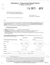 Mortgage Protection Letter Sample