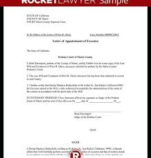 Appointment Letters Magnificent Letter Of Appointment Of Executor Template With Sample With
