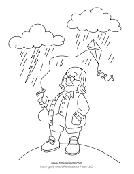 Benjamin Franklin Coloring Page In Electricity Pages - creativemove.me