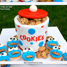 How To Decorate A Cookie Jar Cookie Jar Cake With Cookie Monster Cupcakes Blog Tutorial My 33