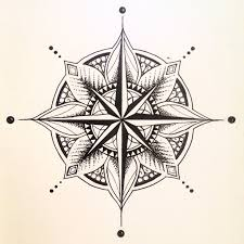 compass design mandala compass tattoo design