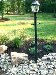 solar rock lights landscape light dress up your lamp post like outdoor dreams of and pure