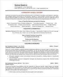 Kindergarten Teacher Resume Sample Best Of Free Teacher Resume 24 Free Word PDF Documents Download Free