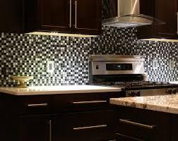 Backsplash For Dark Cabinets Subway Tile Kitchen Backsplash With Dark Cabinets Home Design Ideas