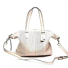 Coach Bleecker Cooper Satchel In Perforated Leather