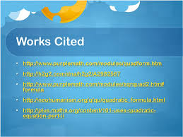 works cited purplemath com modules quadform