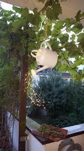 Einzigartige Diy Gartendeko Mit Gie Kanne Und Led Lichterkette Diy Maritime Gartendeko Basteln