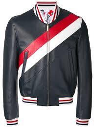 thom browne striped varsity jacket 415 navy men clothing leather jackets thom browne eyewear new york thom browne sweater uk