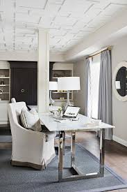 chrome office desk. Chrome And Marble Desk With Gray Lamp Office E