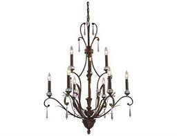elk lighting emilion burnt bronze nine light 32 wide chandelier