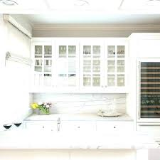 upper cabinets with glass kitchen finish stunning leaded