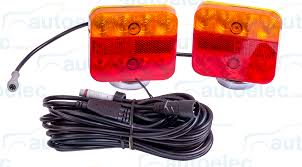 led portable trailer light kit towing magnetic stop tail indicator Portable Trailer Lights Wiring no wiring is needed for the vehicle being towed just attach the trailer lights to a magnetic surface and you're ready to go 4 Pin Trailer Wiring Diagram