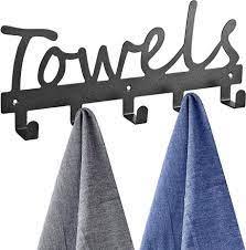 towel rack 5 hooks bathrobe hook wall