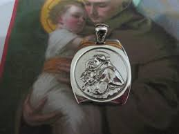 medaglia di sant antonio ciondolo argento medal of saint anthony