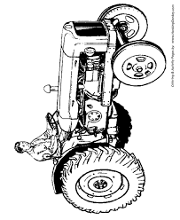 Small Picture Farm Tractor Coloring Pages Farmer sitting on on a tractor