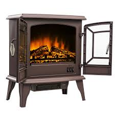 akdy 20 portable freestanding electric fireplace stove heater 3