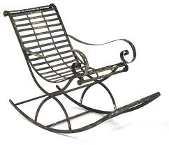 iron rocking chair traditional