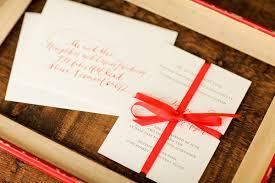 red calligraphy ribbon wedding invitations Ribbon On Wedding Invitation red calligraphy letterpress wedding invitations ribbon tying a ribbon on a wedding invitation