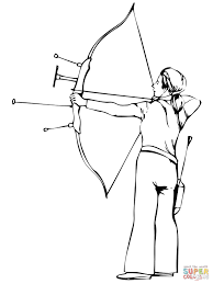 Small Picture Shooting Recurve Bow coloring page Free Printable Coloring Pages