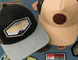 hats with leather patches