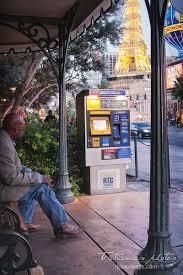 Ticket Vending Machine Las Vegas Magnificent Bus Stop And Tickets Vending Machine On Las Vegas Strip At Bellagio