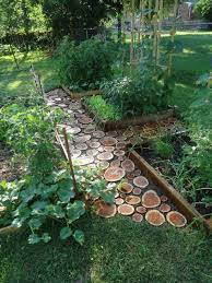 make a wooden path in your garden easy diy garden projects