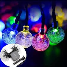 Batteries For Solar Christmas Lights Us 10 7 30 Off Colorful Ball Solar Lawn Lamp Strings Strip Waterproof Christmas Holiday Outdoor Garden Decor Fairy Solar Battery String Light In Led