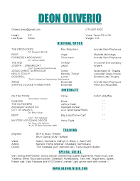Ideas Of Theatre Resume Examples Epic Music Resume Samples Free