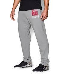 Bruce Lee Roots Of Fight Mens Fleece Pants True Gray Heather