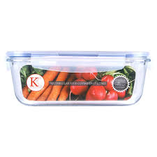 kates kitchen food container rectangle glass with lid 1 7l at countdown co nz