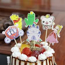 2019 Cartoon Car Beer Fish Happy Birthday Cake Toppers Decoration