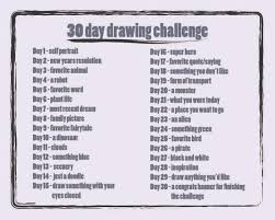 27 best drawing challenge images on Pinterest