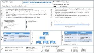 It Project Proposal Template Free Download Project Initiation Document Template Free Download Project